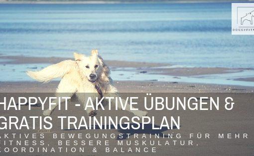 Happyfit - aktives Bewegungstraining & aktive Übungen für mehr Fitness für deinen Hund - inklusive Trainingsplan