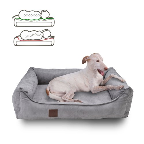 orthopaedisches-hundebett-louis-velours-optik-wildleder-imitat-grau
